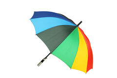 Guarda-chuva colorido isolado no fundo branco Fotos de Stock Royalty Free