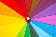 guarda-chuva colorido Multi-colorido com todas as cores do arco-íris Imagens de Stock