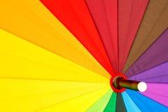 guarda-chuva colorido Multi-colorido com todas as cores do arco-íris Foto de Stock