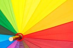 guarda-chuva colorido Multi-colorido com todas as cores do arco-íris Imagem de Stock Royalty Free