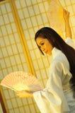 Guarda-chuva da gueixa Fotos de Stock Royalty Free