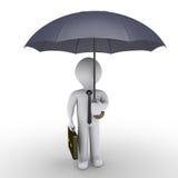 Guarda-chuva da terra arrendada do homem de negócios Imagem de Stock Royalty Free