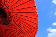 Guarda-chuva de papel Fotografia de Stock