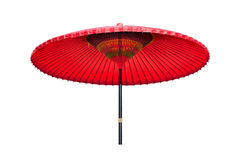Guarda-chuva de papel oleado vermelho do chinês tradicional Foto de Stock