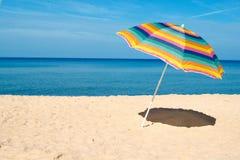 Guarda-chuva de praia Fotografia de Stock