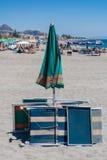 Guarda-chuva de praia em Taormima imagem de stock