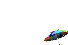 Guarda-chuva de praia isolada Imagens de Stock