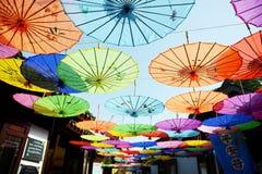 Guarda-chuva decorativo antigo imagem de stock