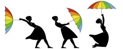 Guarda-chuva do arco-íris Imagem de Stock