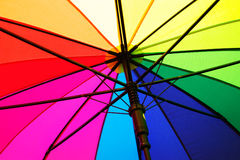 Guarda-chuva do arco-íris Fotos de Stock Royalty Free