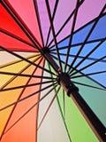 Guarda-chuva do arco-íris imagens de stock