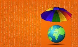 guarda-chuva 2019 do ` do ` para a terra ilustração do vetor