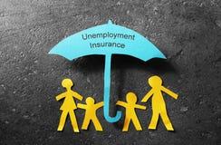 Guarda-chuva do seguro de desemprego Fotos de Stock Royalty Free