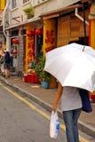 Guarda-chuva mim, a rua em Malásia Imagens de Stock Royalty Free