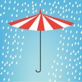Guarda-chuva na chuva Ilustração Stock