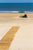 Guarda-chuva na praia Foto de Stock