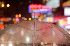 Guarda-chuva transparente Imagens de Stock Royalty Free