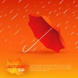 guarda-chuva VENDA do outono Imagens de Stock Royalty Free