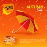 guarda-chuva VENDA do outono Imagem de Stock