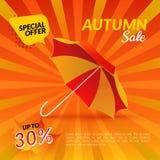 guarda-chuva VENDA do outono Fotos de Stock