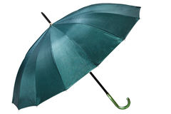 Guarda-chuva verde Fotos de Stock Royalty Free