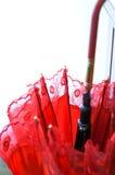 Guarda-chuva vermelho do casamento do chinês tradicional Fotos de Stock