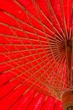 Guarda-chuva vermelho tradicional norte de Tailândia Foto de Stock Royalty Free