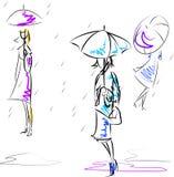 Guarda-chuvas Ilustração do Vetor