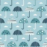 Guarda-chuvas azuis sem emenda Fotografia de Stock