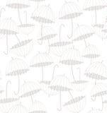 Guarda-chuvas brancos Teste padrão Fotografia de Stock