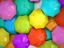 Guarda-chuvas coloridos ilustração do vetor