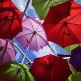 Guarda-chuvas coloridos Foto de Stock