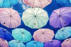 Guarda-chuvas coloridos Imagem de Stock