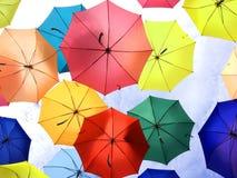 Guarda-chuvas coloridos Fotografia de Stock