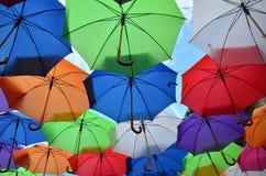Guarda-chuvas como um fundo Imagens de Stock