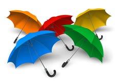Guarda-chuvas da cor