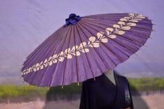 Guarda-chuvas da gueixa Fotografia de Stock