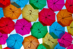 Guarda-chuvas de Colorfull Imagens de Stock Royalty Free