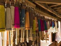 Guarda-chuvas de papel tradicionais Fotografia de Stock Royalty Free