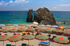 Guarda-chuvas de praia imagens de stock royalty free