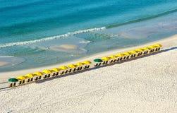 Guarda-chuvas de praia Fotografia de Stock Royalty Free