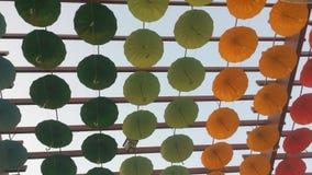 Guarda-chuvas decorativos Fotos de Stock Royalty Free