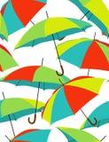 Guarda-chuvas do arco-íris Fotos de Stock Royalty Free