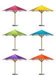Guarda-chuvas do mercado ilustração stock