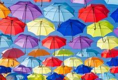 Guarda-chuvas no céu Fotografia de Stock