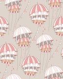 Guarda-chuvas vermelhos Imagem de Stock
