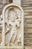 Guarda de piedra en el templo de Bodhi, Sri Lanka Foto de archivo