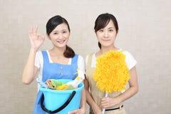 Guarda de serviço fêmeas de sorriso imagens de stock