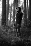 Guarda de sexo femenino del bosque verde fotografía de archivo libre de regalías
