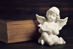 Guarda del ángel que lee un libro Imágenes de archivo libres de regalías
